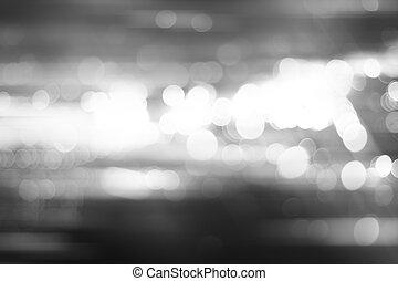 defocused, ville, nuit, filtré, bokeh, résumé, arrière-plan.