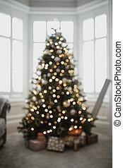 Defocussed christmas tree