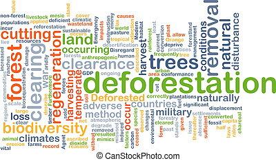 Deforestation background concept