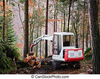 Deforestation - Machine tool operator to work in the forest