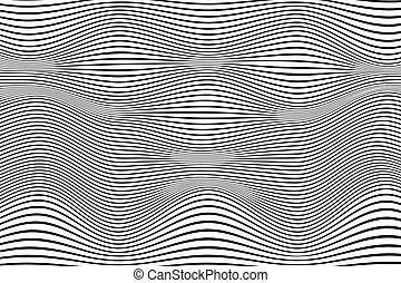 deformado, óptico, fundo, linhas, ilusão