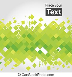 Deformated plastic squre shapes background with place for...