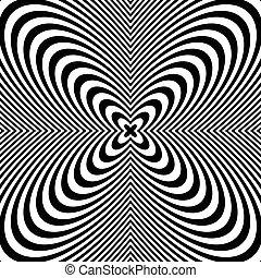 deformation., abstract, lijnen, achtergrond., black , radiaal, witte