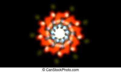 Deformation flower pattern, oriental pattern, HD 1080p - loop