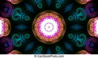deformation of color flower pattern