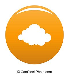 Deformed cloud icon orange