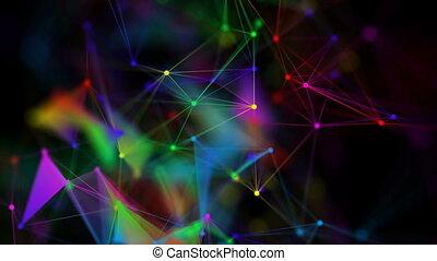 deformed colored graphene. seamless loop