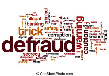 Defraud word cloud