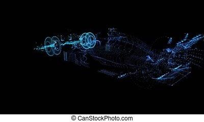 degré, formule, formation, tourner, bleu, modèle, 360,...
