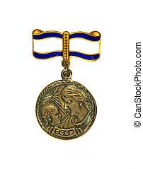 degré, maternité, fond, 1er, blanc, médaille