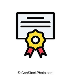 degree flat color icon