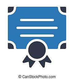 degree glyph color vector icon