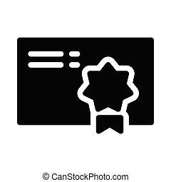 degree glyph flat vector icon