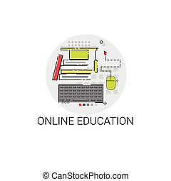 Degree Online Learning Distance Education Icon