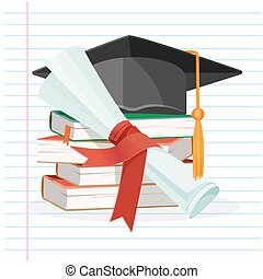 Degree scroll on background of linear piece of paper vector...