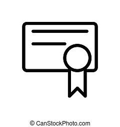 degree thin line icon