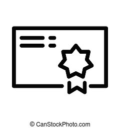 degree thin line vector icon