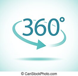 degres, 360, icono