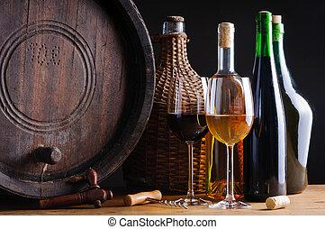 degustação vinho, em, adega