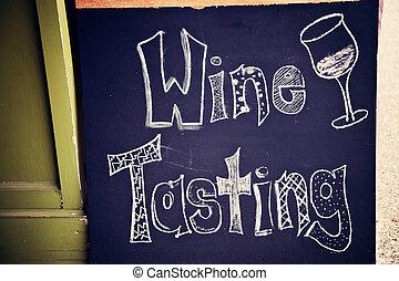 degustação vinho, sinal