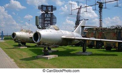 dehors, aviation, avions, combattant, national, jet, exposition, vieux