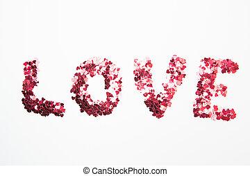 dehors, confetti, orthographe, amour, rose