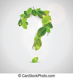 dehors, feuilles, fait, question, signe