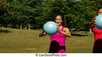 dehors, groupe, fonctionnement, medi, fitness