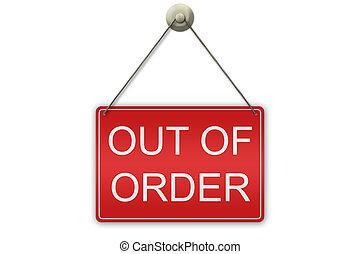 dehors, ordre, signe