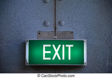 dehors,  points, sortie, manière, signe
