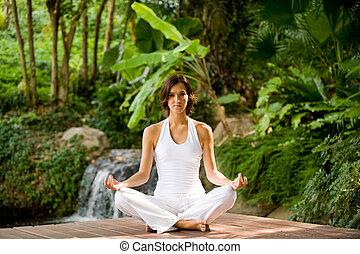 dehors, yoga