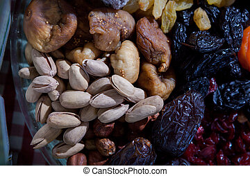 dehydrated fruit - made dish of dehydrated fruit