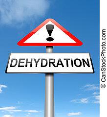 Dehydration concept.