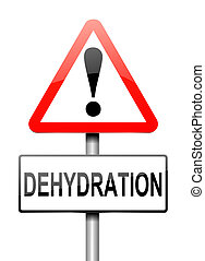 Illustration depicting a sign with a dehydration concept.