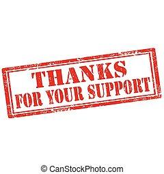 dein, dank, support-stamp