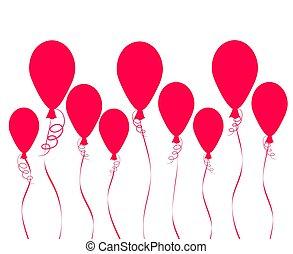 dein, fliegendes, abbildung, luft, heiß, vektor, hintergrund, luftballone, design, bestand