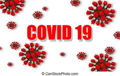 dein, -, raum, covid-19, hintergrund, covid, freigestellt, ...