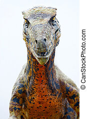 Deinonychus dinosaur - Vantaa, FINLAND - APRIL 22: Dinosaur...