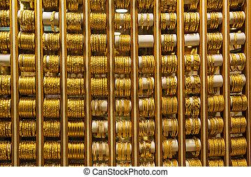 deira, souq, marknaden, guld, dubai