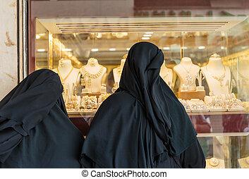 deira, souq, mercato, oro, dubai