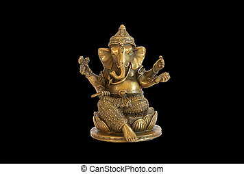 Deity of Ganesha from India, also spelled Ganesa or Ganesh,...