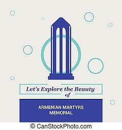 dejarnos, explorar, el, belleza, de, armenio, mártires, monumento conmemorativo, ca, estados unidos de américa, nacional, señales
