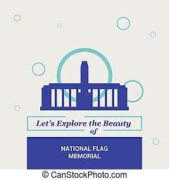 dejarnos, explorar, el, belleza, de, bandera nacional, monumento conmemorativo, ???rosario, argentina, nacional, señales