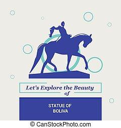 dejarnos, explorar, el, belleza, de, estatua, de, boliva, nueva york, estados unidos de américa, nacional, señales