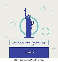 dejarnos, explorar, el, belleza, de, libertad, newyork, estados unidos de américa, nacional, señales