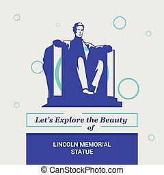 dejarnos, explorar, el, belleza, de, lincoln, estatua, washington, cc, estados unidos de américa, nacional, señales
