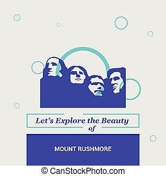 dejarnos, explorar, el, belleza, de, monte rushmore, dakota del sur, estados unidos, nacional, señales