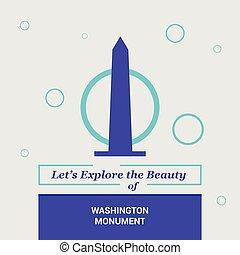 dejarnos, explorar, el, belleza, de, washington monument, estados unidos de américa, nacional, señales