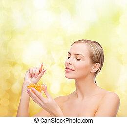 dejlige, 3, kvinde, omega, vitaminer
