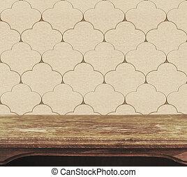 dek, houten, ouderwetse , behang, achtergrond, tafel